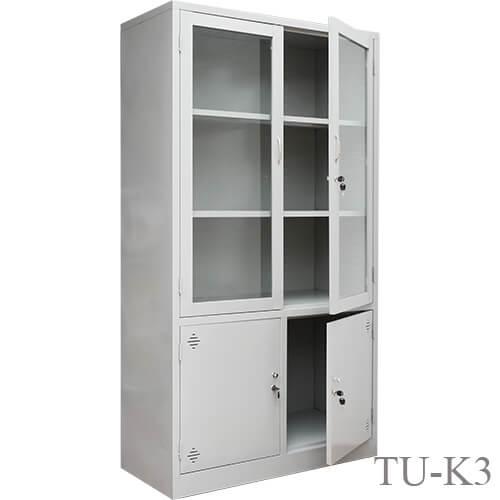 Tủ sắt văn phòng cánh kính TU-K3-03-1