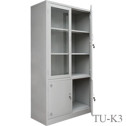 Tủ sắt văn phòng cánh kính TU-K3-04